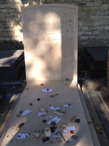 Sartre and Beauvoir's grave in Montparnasse cemetery